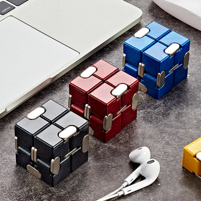 Infinite Rubik's Cube Alloy Decompression Artifact Decompression Toy Fingertip Dice Boring Creative Vent Wireless Box Gift