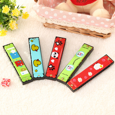 16 rows of two-hole cute harmonica children harmonica baby wind instrument cartoon toys enlightenment instrument iron