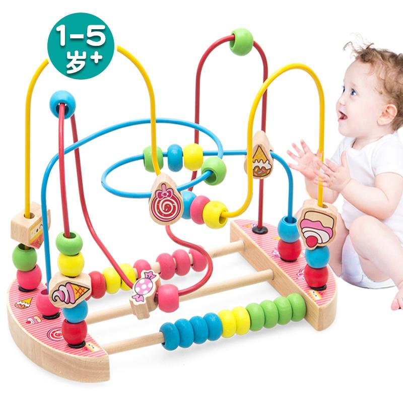 На младенца [童早教绕珠串珠积木6-12个月] мужской [孩女] детские [益智力玩具1-2-3周岁]