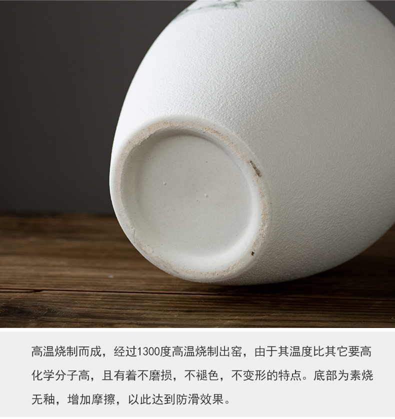 Jingdezhen Chinese ink bottle creative ceramic decoration plate wine porch decoration flower implement furnishing articles arts and crafts