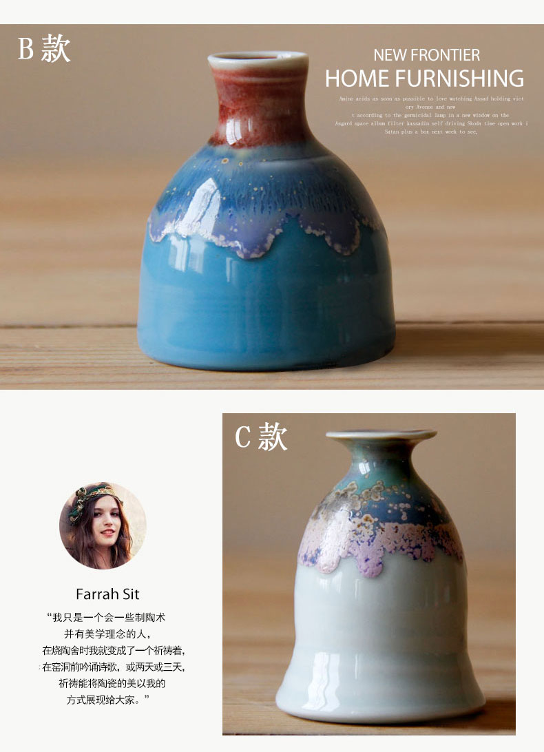 Contracted and I sitting room, dining - room home decoration ceramic vase floral furnishing articles, small and pure and fresh flower arranging flowers