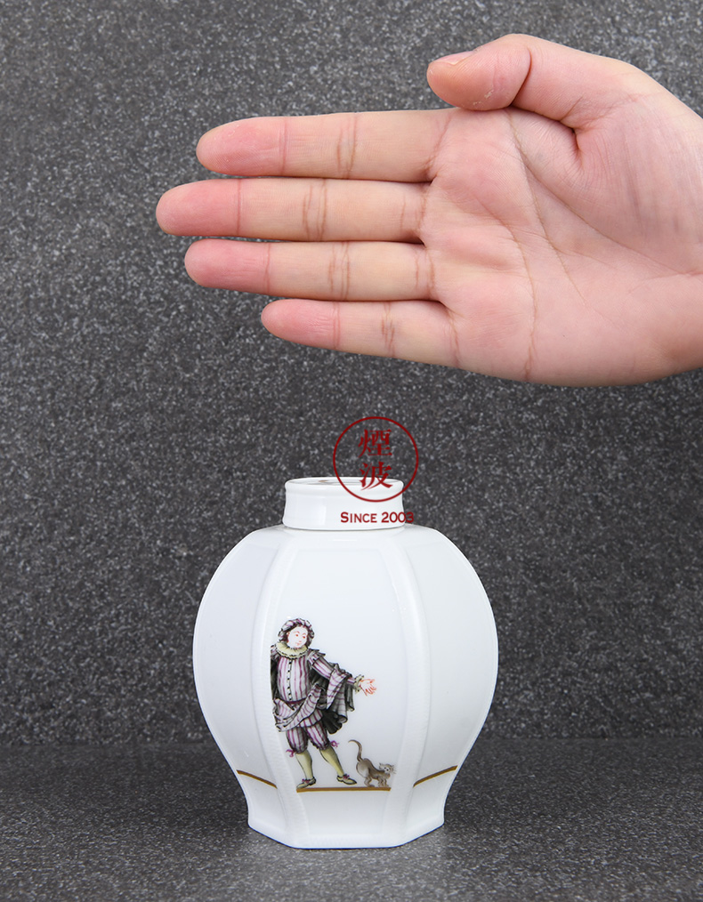 German mason mason meisen new clipping porcelain Figure painting caddy fixings