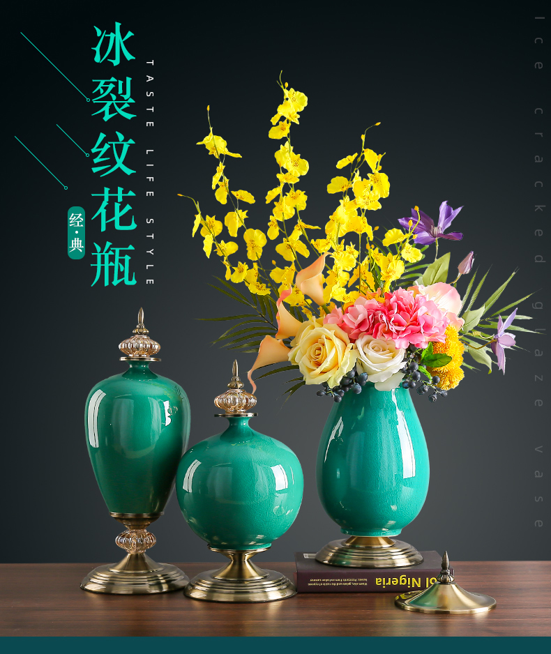 European ceramic vase furnishing articles household act the role ofing is tasted American light dry flower arranging flowers, TV ark, the key-2 luxury of the sitting room porch decoration