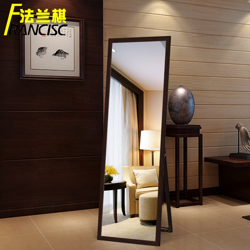 Flange Chess Dressing Mirror Explosion Proof Wall Mounted Dressing Mirror  Full Body Floor Mirror