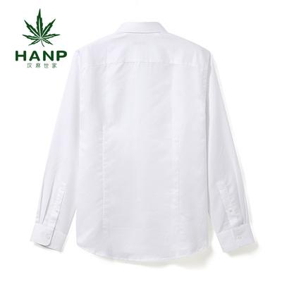 Hanp Hanma gia đình màu rắn nam cotton và linen dài tay áo sơ mi nam casual shirt linen thanh niên lỏng trắng áo sơ mi nam tay dài Áo