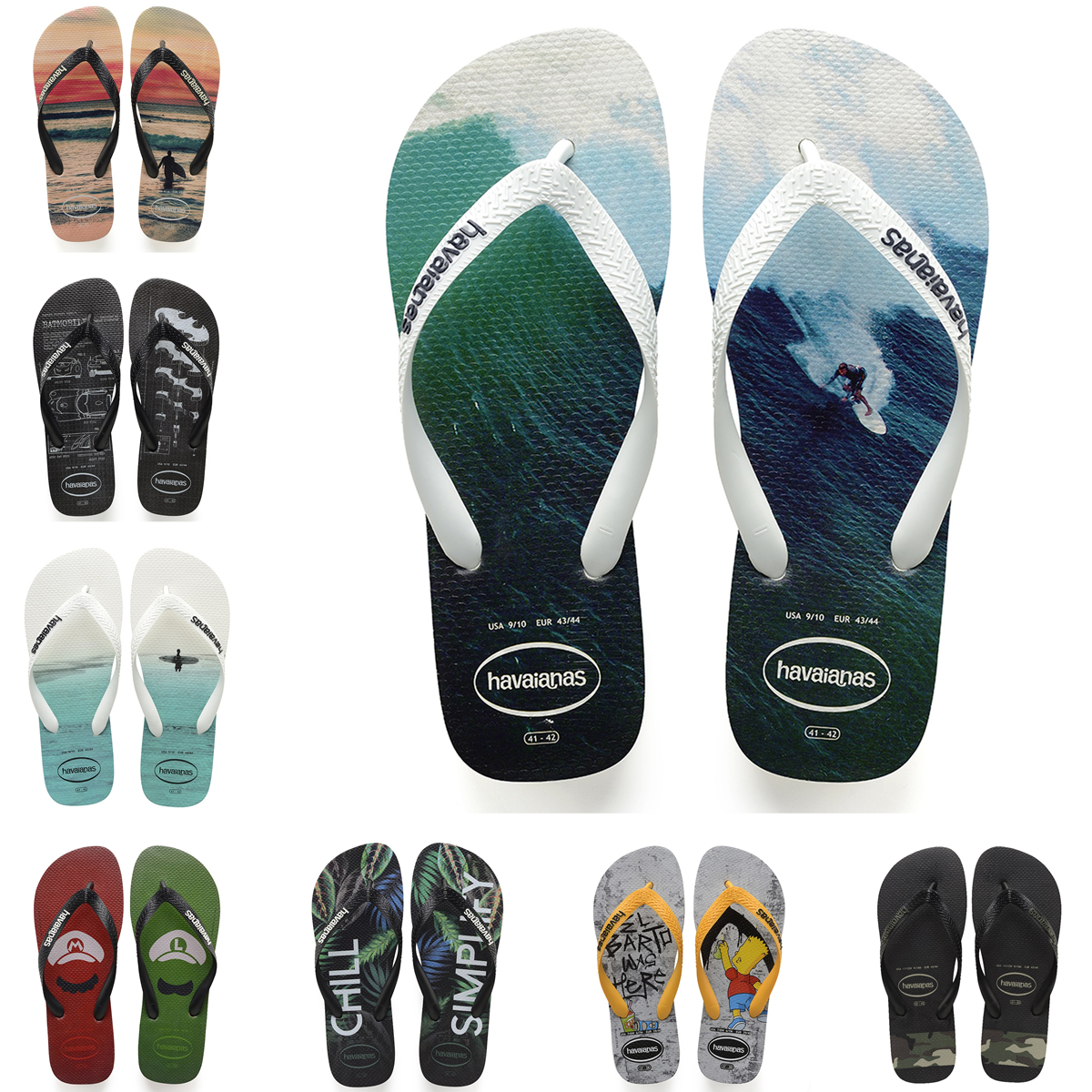 b517a3d11 Havaianas flip-flops men fashion models wear couple hype prom slippers  summer beach shoes Havana