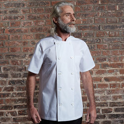 Chef overalls summer short-sleeved men's mesh breathable kitchen clothes hotel restaurant kitchen thin white chef clothes
