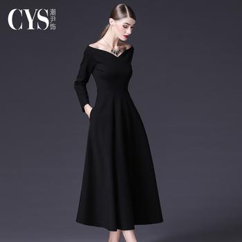 Черный ритуал одежда платье дамы конец 2020 новинка зимний осеннний обычно носить темперамент хепберн ветерок черная юбка, цена 4745 руб