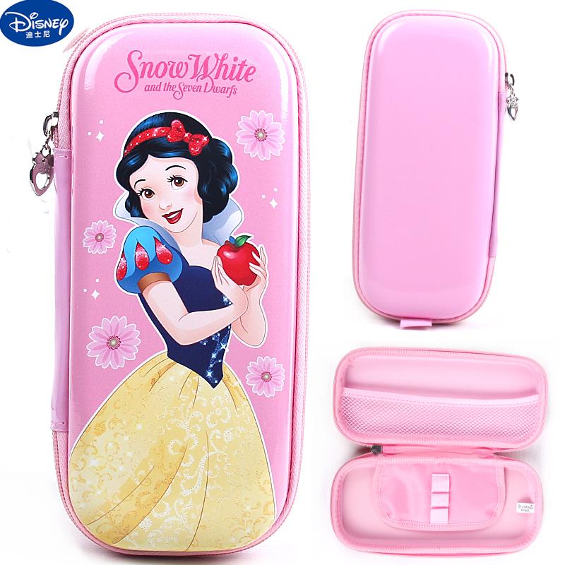 迪士尼冰雪苏菲亚女孩小学生笔袋大容量铅笔袋儿童文具盒韩国笔盒_领取5元天猫超市优惠券
