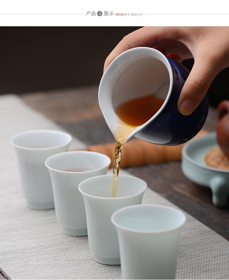 Offered home - cooked offerings in jingdezhen blue ji blue glaze porcelain fair keller large single glazed ceramic kung fu tea is tea set