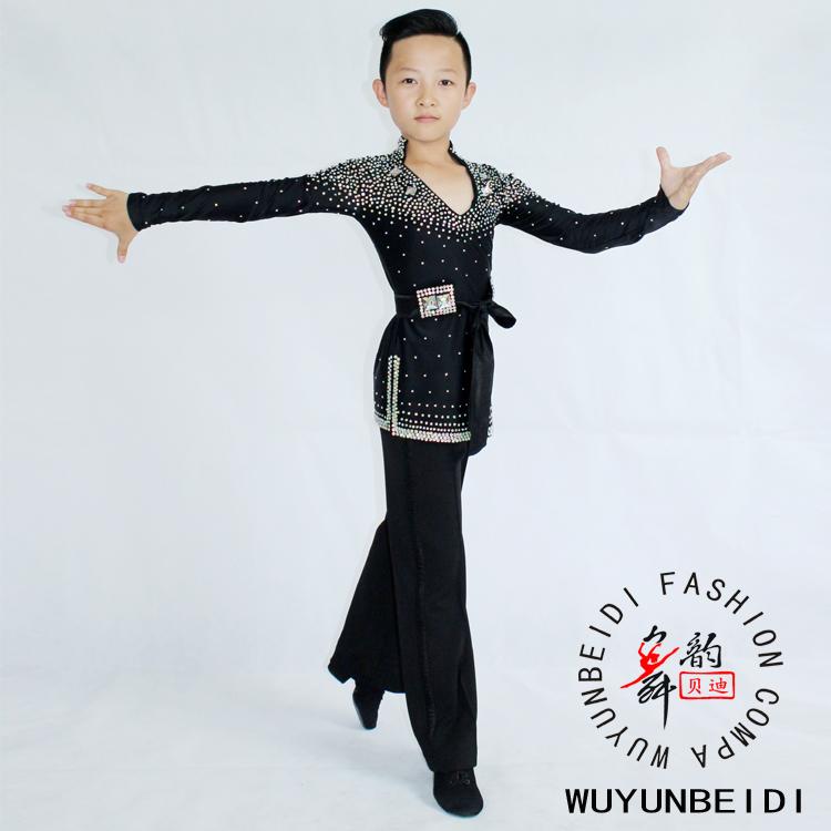 a990778ba722 Boys Latin dance tops costumes children's Latin dance costumes children's  competition clothes men's tops