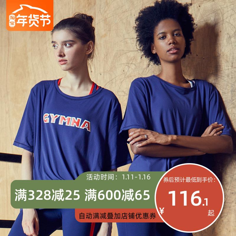 小溪家运动速干T恤女宽松罩衫跑步大码短袖透气休闲背心健身上衣