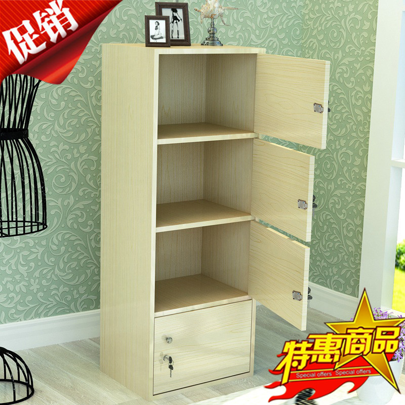 Storage Cabinets With Locked Wooden Single Door Barber Beauty Salon Wardrobe Locker