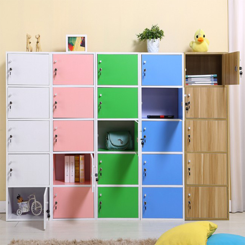Storage Cabinet With Lock Wooden School Children S Book Bag Kindergarten Clroom Wardrobe Beauty Salon