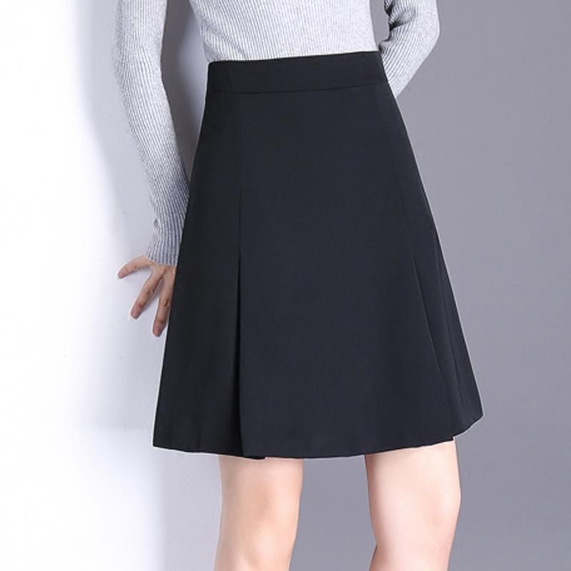 A字半身裙女短裙春秋黑色秋季