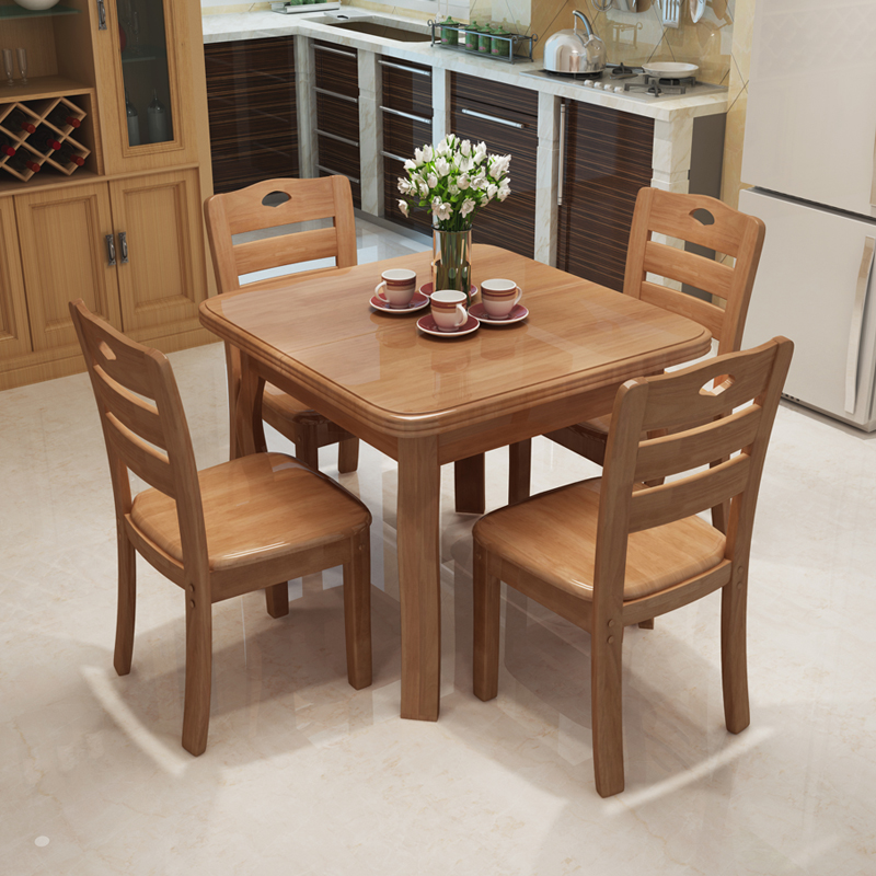 Solid Wood Square Dining Table