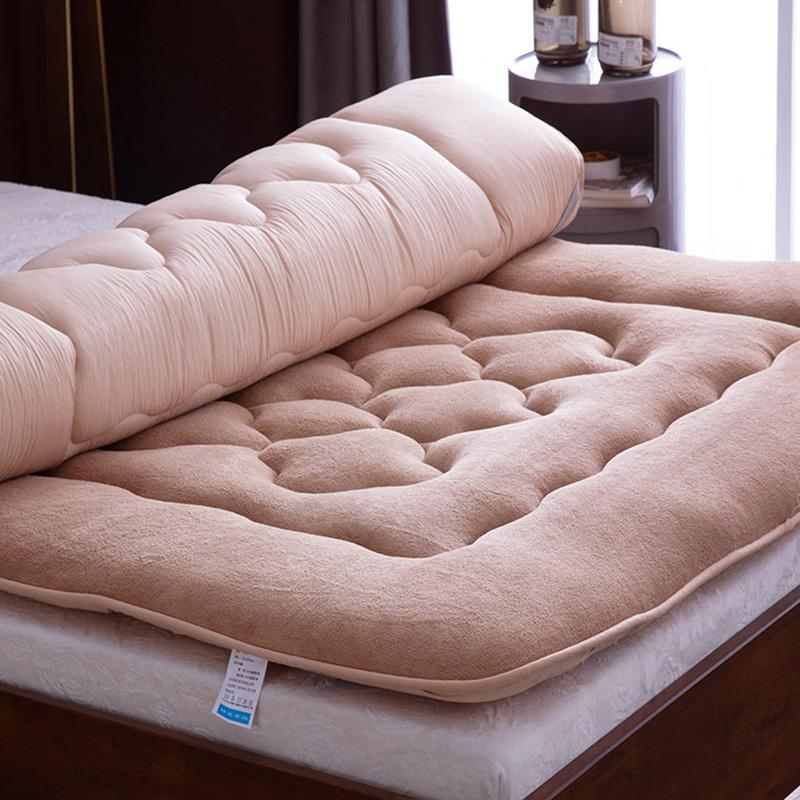 加厚羊羔绒榻榻米床垫