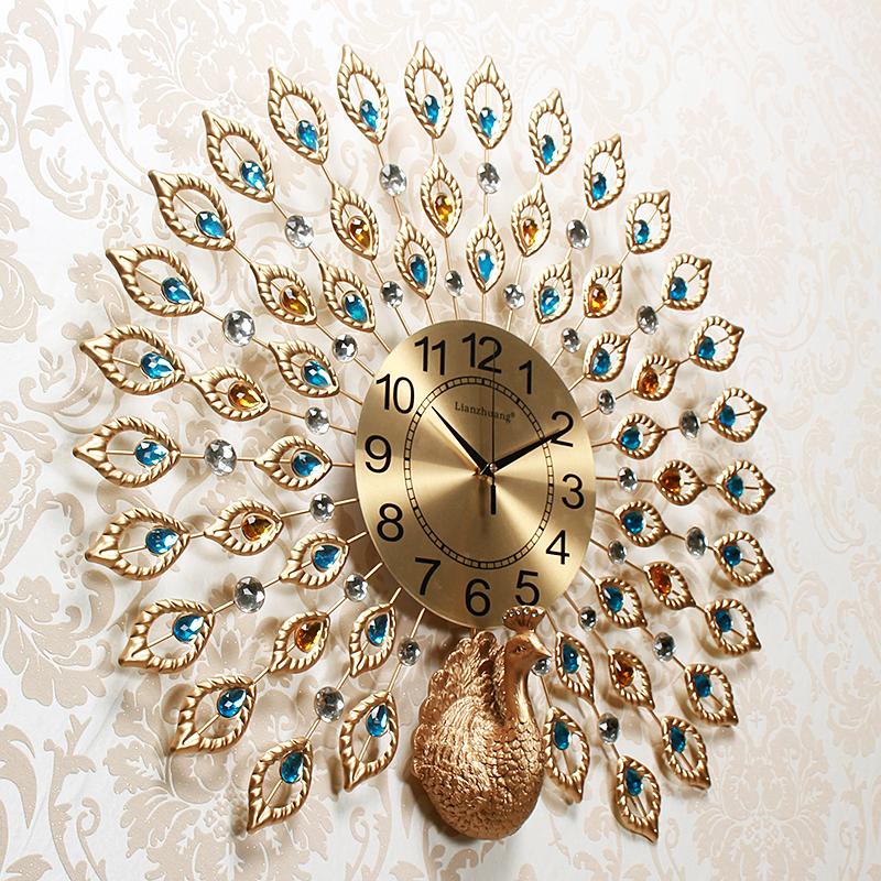 Usd 10750 Creative Peacock Wall Clock Fashion Living Room