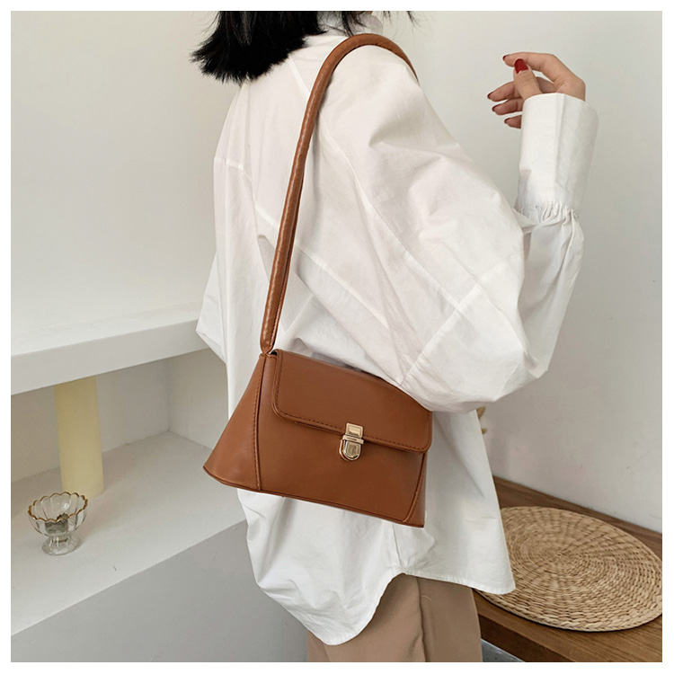 Retro mortise lock small bag new trend Korean version of the wild shoulder bag fashion handbag underarm bag NHXC200568