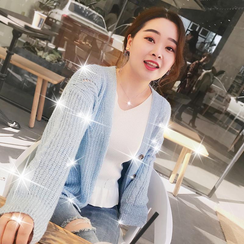 Женский большой размер 200 цзин, единица измерения веса жир mm весна новый вязание кардиган корейский литература и искусство свободный шайнер свитер пальто волна
