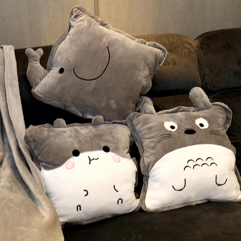 抱枕被子两用女办公室午睡枕头折叠毯子汽车靠垫男靠枕空调三合一