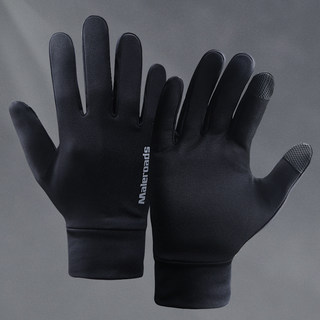 Running sports gloves for men and women outdoor autumn and winter warm touch screen mountaineering skiing fleece riding non-slip football training