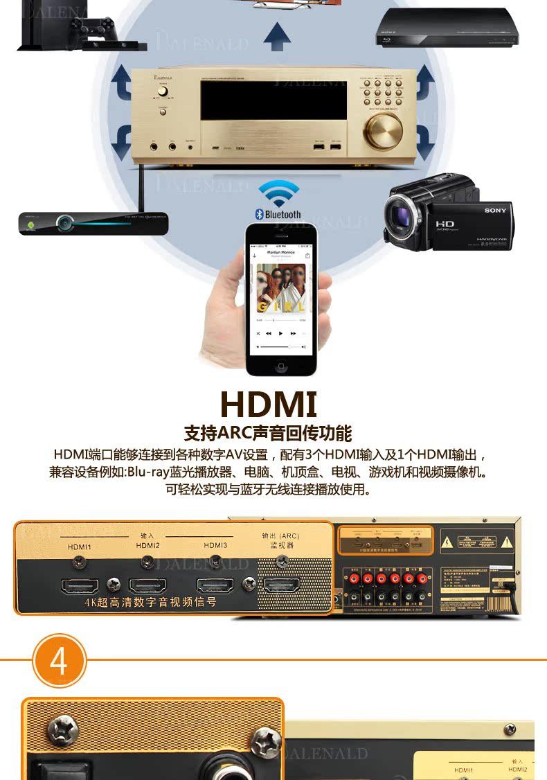 836 54] Balenald ST8 Banlong 5 1 Home Theater Audio Suite