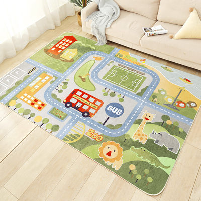 Children cartoon game carpet living room bedroom bedside carpet puzzle early education cute baby crawling washing mat
