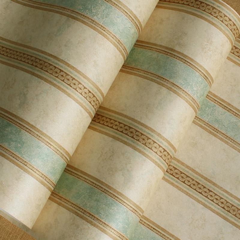 Винтаж Зеленые вертикальные полосатый ( утепленный стиль )
