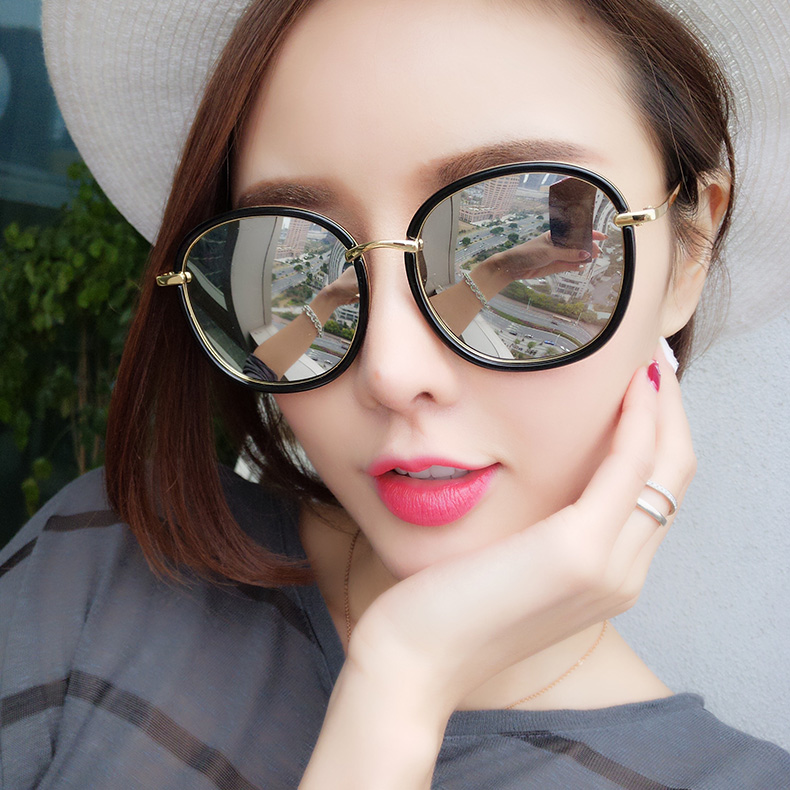 f52763c8d0 2019 new Korean personality polarized sunglasses with the same paragraph gm  sunglasses ladies tide round face · Zoom · lightbox moreview · lightbox  moreview ...