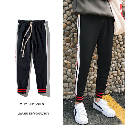 Fang Shao men's 2018 new spring casual pants men's Korean students loose sports pants feet trousers tide