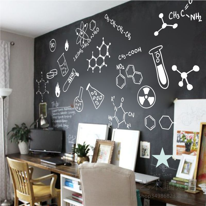 Chemical Formula Science Laboratory Wall Stickers Creative Technology  Company Office Culture Primary School Classroom Layout Stickers