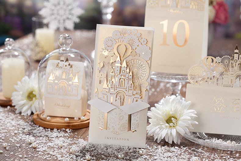 customized printing laser cut hollow wedding invitations cards, invitation samples