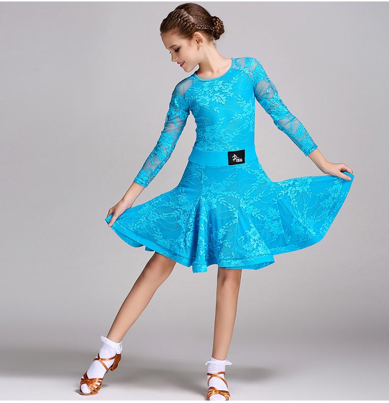 0f6a23eb7 2017 NEW Kids Latin Salsa Ballroom Dance Dress Girls Dancewear ...