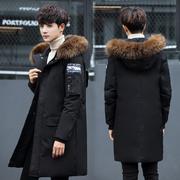 2017 mùa đông người đàn ông mới của thanh niên bông coat xuống áo khoác cotton nam phần dài Hàn Quốc phiên bản của bông áo khoác nam dày