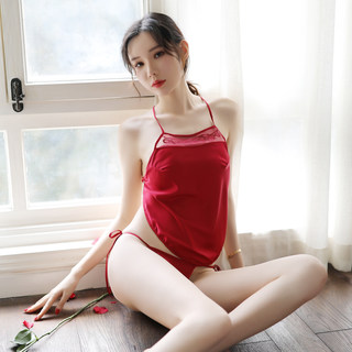 Belly-style underwear female show sexy hot sexy retro style red tulle pajamas adult court temptation costume