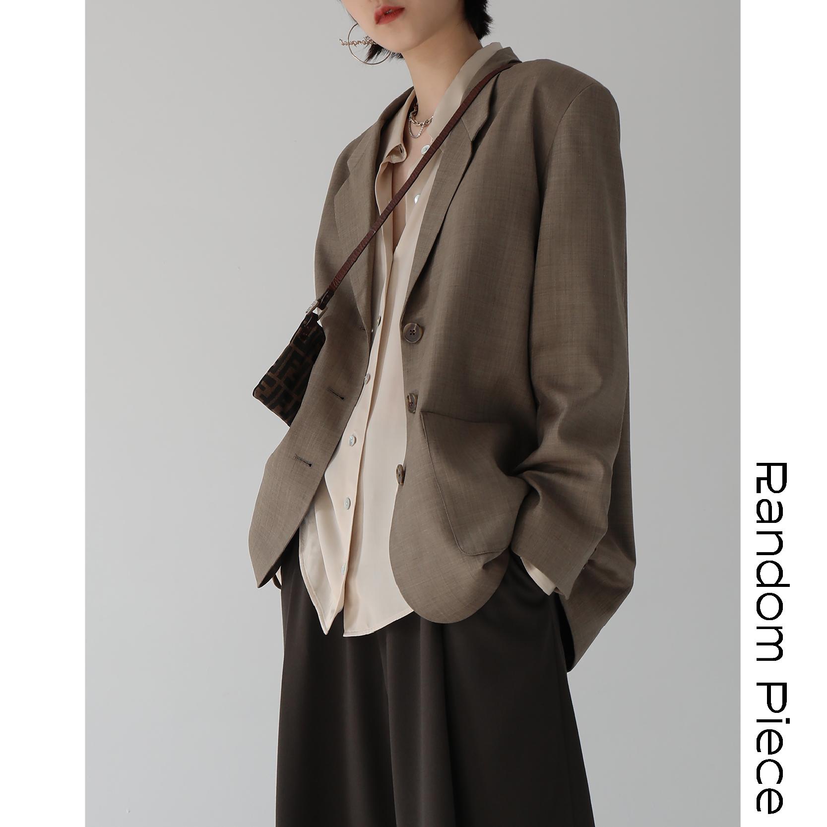 [RandomPiece2018FW] 复古Mannish 高端色织 进口精纺羊毛西装
