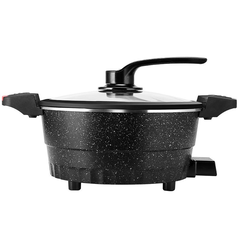 電炒蒸煮一體鍋電火鍋電鍋多功能家用電煮鍋電熱不粘鍋煎鍋微壓鍋