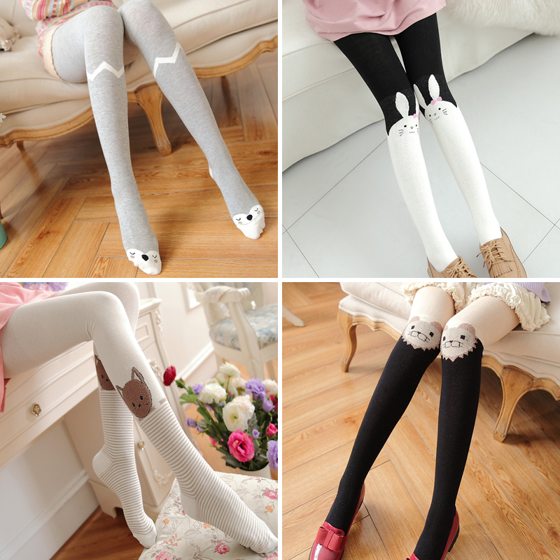 0e82d93cb97 Pantyhose female Japanese cute white socks adult winter soft sister  stockings cartoon sweet thick student girl autumn and winter