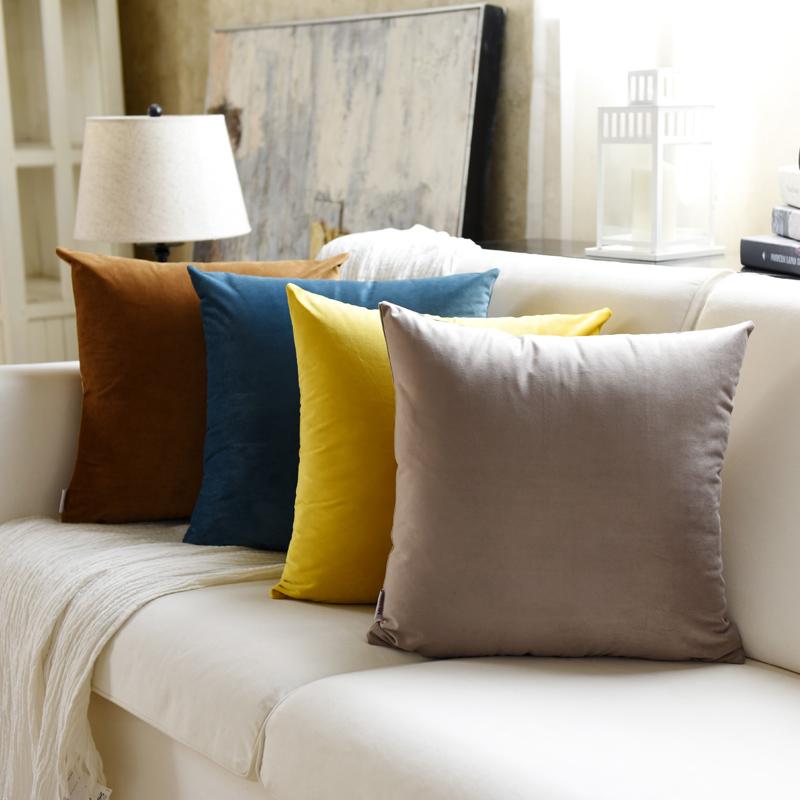 Sofa gối đệm đệm phòng khách phòng ngủ giường ngủ văn phòng lớn gối eo gối rắn màu gối sang trọng không có lõi - Trở lại đệm / Bolsters