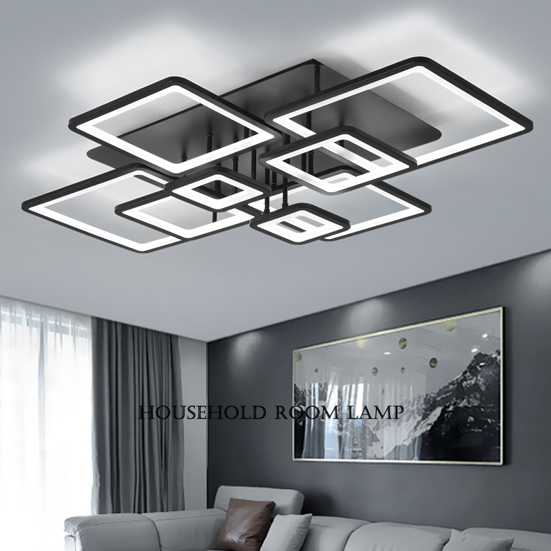 detailed look fd9fe 33fbe Living room lights simple modern atmosphere home rectangular personality  creative LED Ceiling Lamp bedroom lights 2019 New
