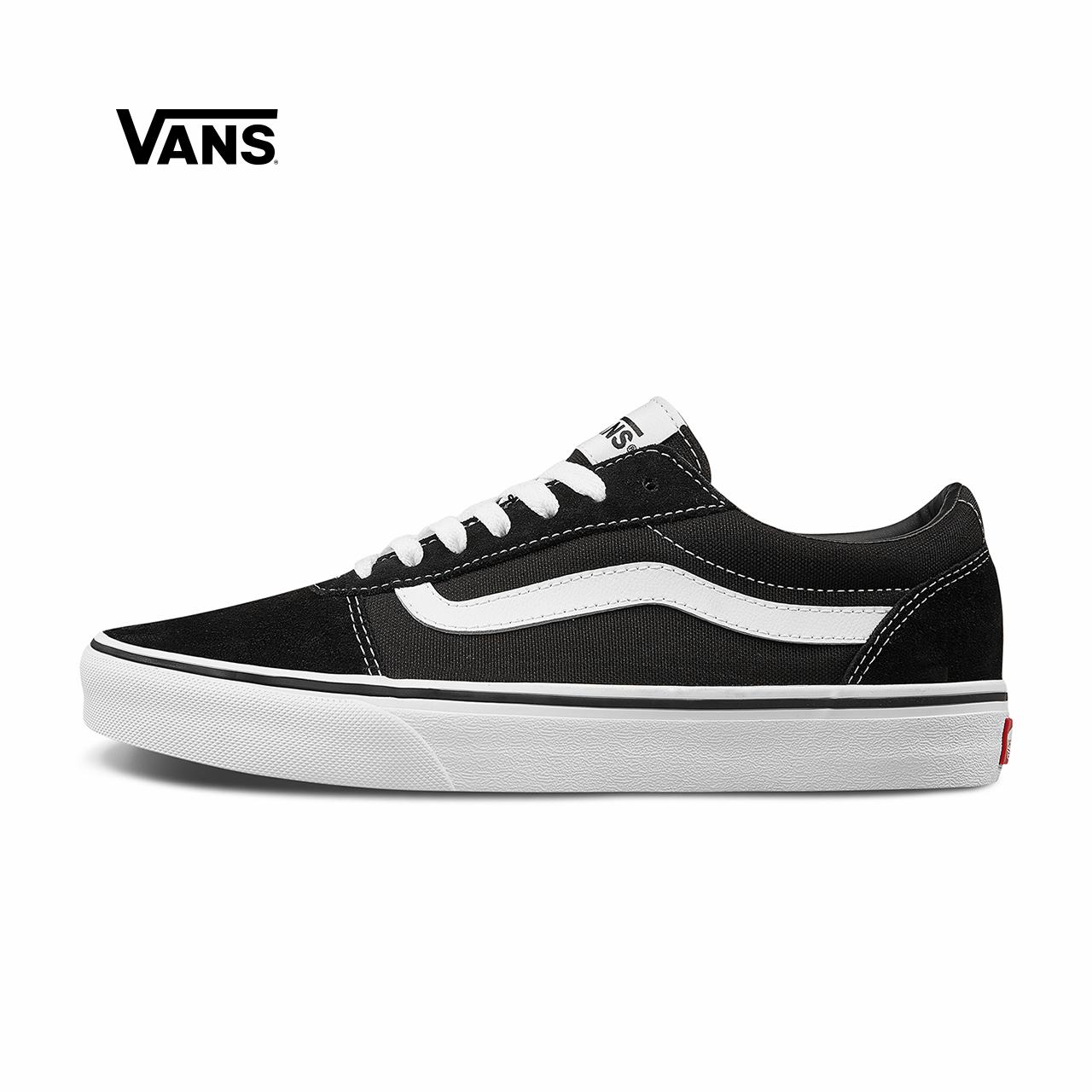 Vans范斯官方 黑色侧边条纹男鞋Ward低帮经典板鞋运动鞋