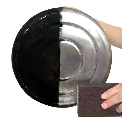 【天天特价】5块装 厨房刷锅除垢金刚砂海绵擦除锅底铁锈魔力擦
