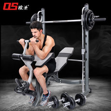 European St. Smith machine squat rack multifunctional weightlifting bed barbell rack home fitness bench press gantry rack equipment