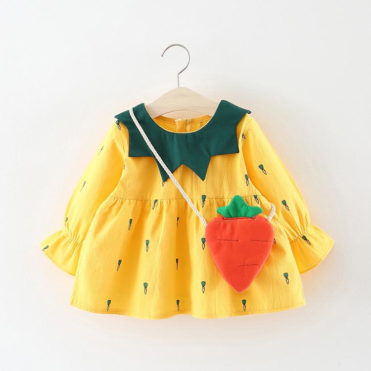 0-1-2-3岁4女宝宝秋装裙子女童连衣裙婴儿衣服9春秋季洋气6个月12