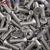 M2M3M4M5M6M8 / 304 stainless steel cross flat head screw countersunk screw nut fitting large bolt