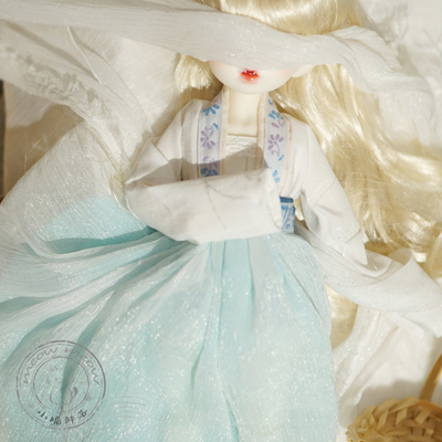taobao agent Xiaomiao bjd baby clothes ancient style Hanfu material package 4 points 6 points 8 points ob11 small cloth ob24 waist and chest suit