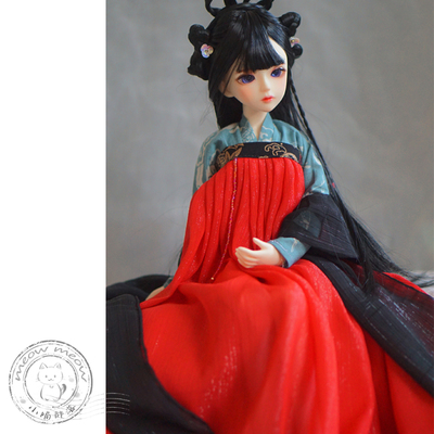 taobao agent 【Kitten】BJD/SD baby clothes bjd Hanfu ancient style ancient costume 6/4/3 points ob11 material package Full chest skirt