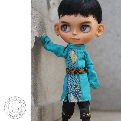 taobao agent Xiaomiao BJD baby clothes bjd Hanfu round neck robe ancient style ancient costume 6/4/3 points uncle ob11 material package men and women suit