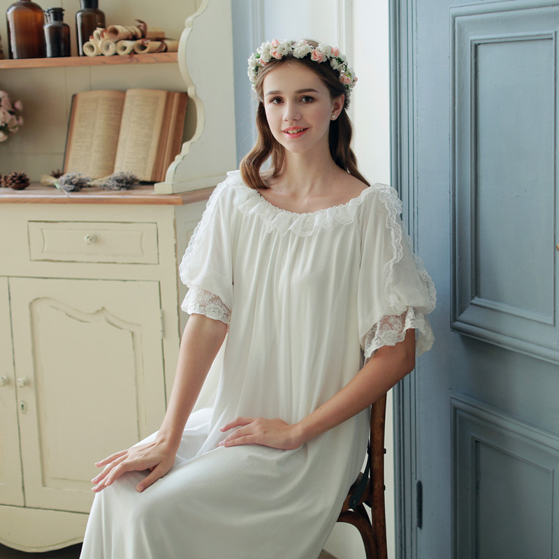 479f1b919a (Dream)summer Princess lace short sleeve long nightdress female modai  children pajamas large size. Zoom · lightbox moreview · lightbox moreview  ...